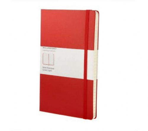Red Large Ruled Notebook